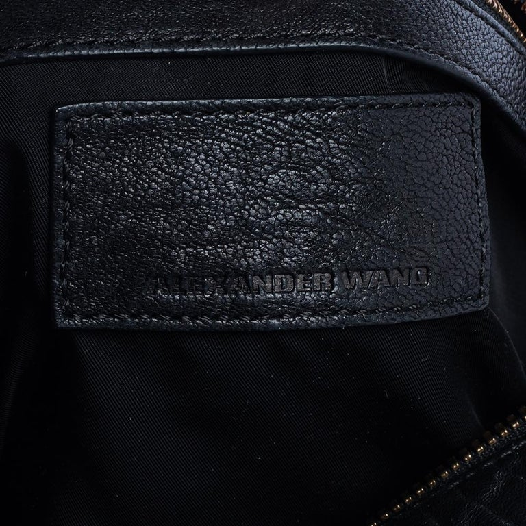 Alexander Wang Black Leather Rocco Duffle Bag For Sale 3