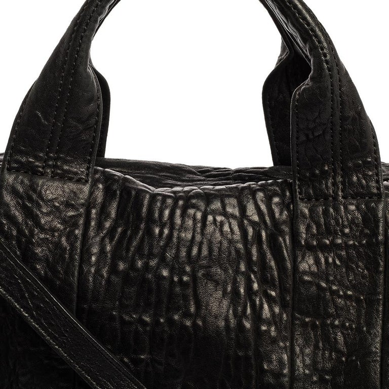 Alexander Wang Black Leather Rocco Duffle Bag For Sale 5