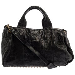 Alexander Wang Black Leather Rocco Duffle Bag