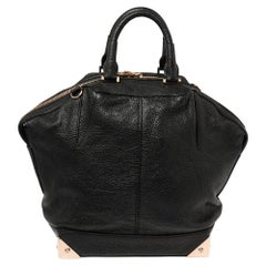 Alexander Wang Black Leather Small Emile Satchel