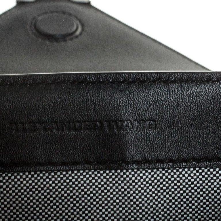 Women's Alexander Wang Black Leather Small Prisma Envelope Crossbody Bag For Sale