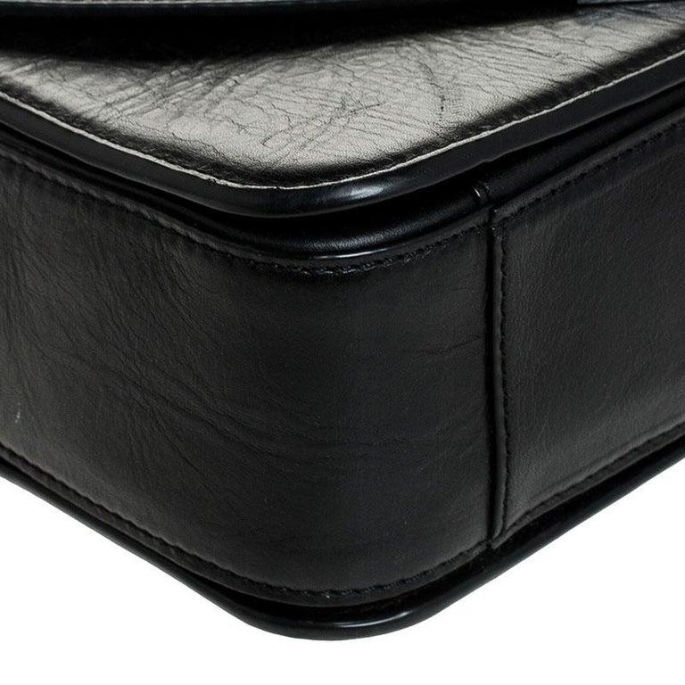 Alexander Wang Black Leather Small Prisma Envelope Crossbody Bag For Sale 1