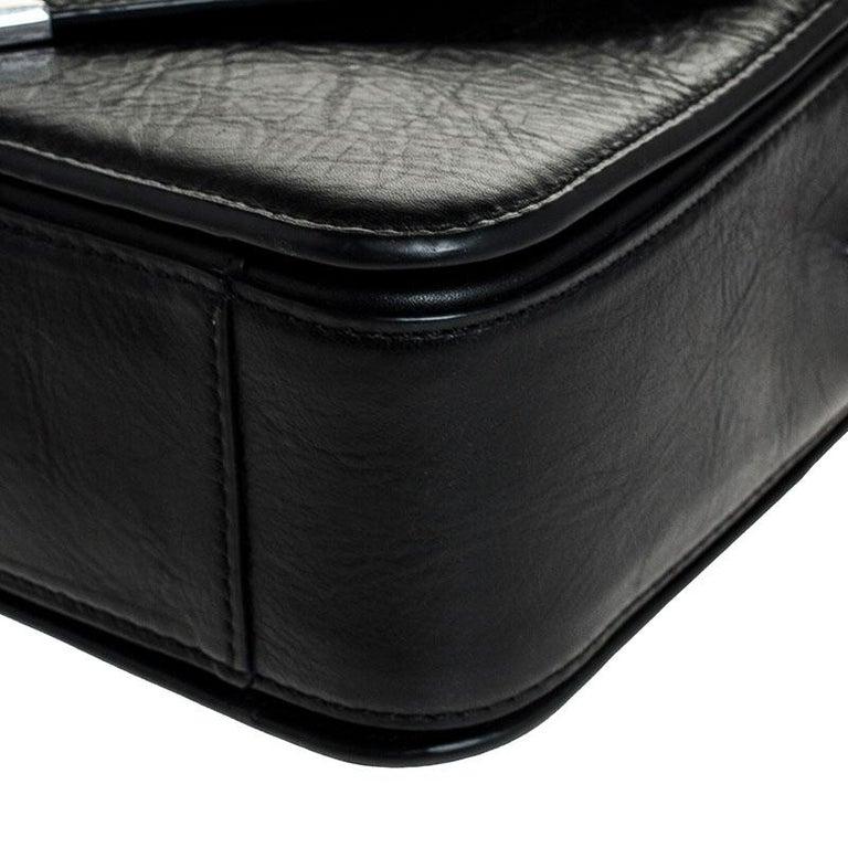 Alexander Wang Black Leather Small Prisma Envelope Crossbody Bag For Sale 2