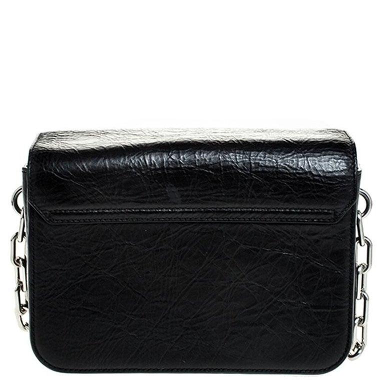 Alexander Wang Black Leather Small Prisma Envelope Crossbody Bag For Sale 4