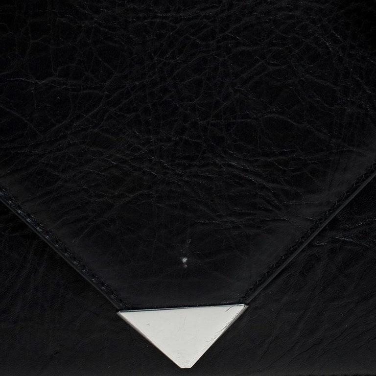 Alexander Wang Black Leather Small Prisma Envelope Crossbody Bag For Sale 5