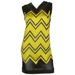 Alexander Wang Black & Lime Net Dress