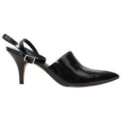 Alexander Wang Black Patent Pointed-Toe Heels