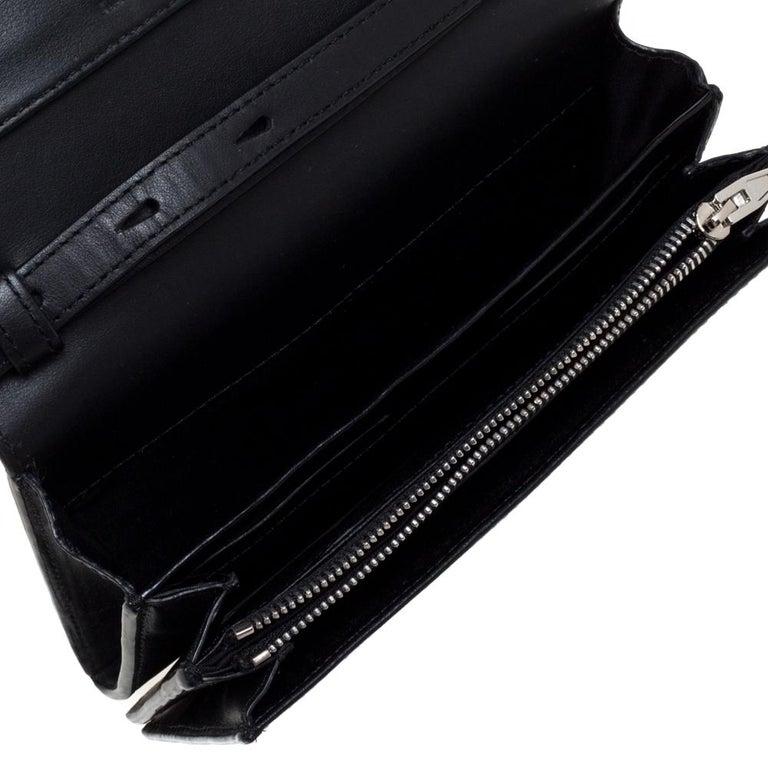 Alexander Wang Black Rose Embossed Leather Prisma Biker Shoulder Bag For Sale 2