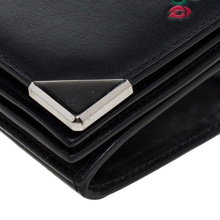 Alexander Wang Black Rose Embossed Leather Prisma Biker Shoulder Bag For Sale 5