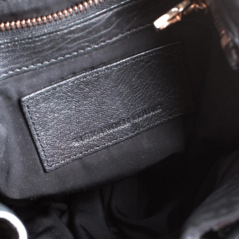 Alexander Wang Black Textured Leather Diego Bucket Bag For Sale 5