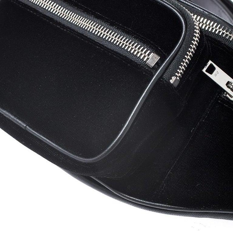 Alexander Wang Black Velvet Attica Belt Bag For Sale 6