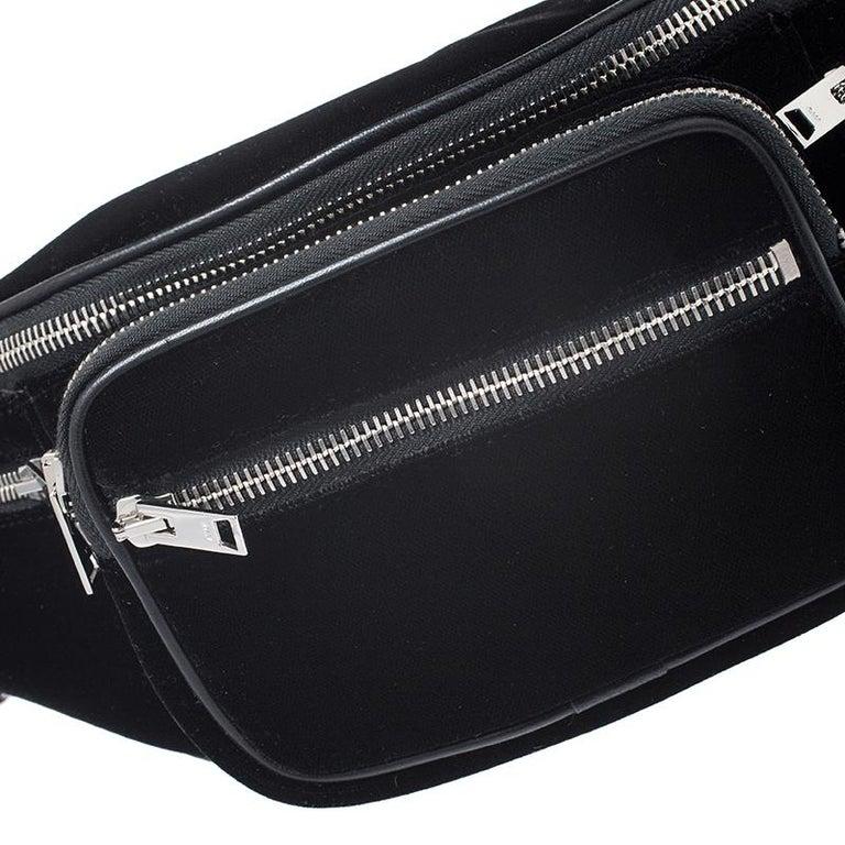 Alexander Wang Black Velvet Attica Belt Bag For Sale 7