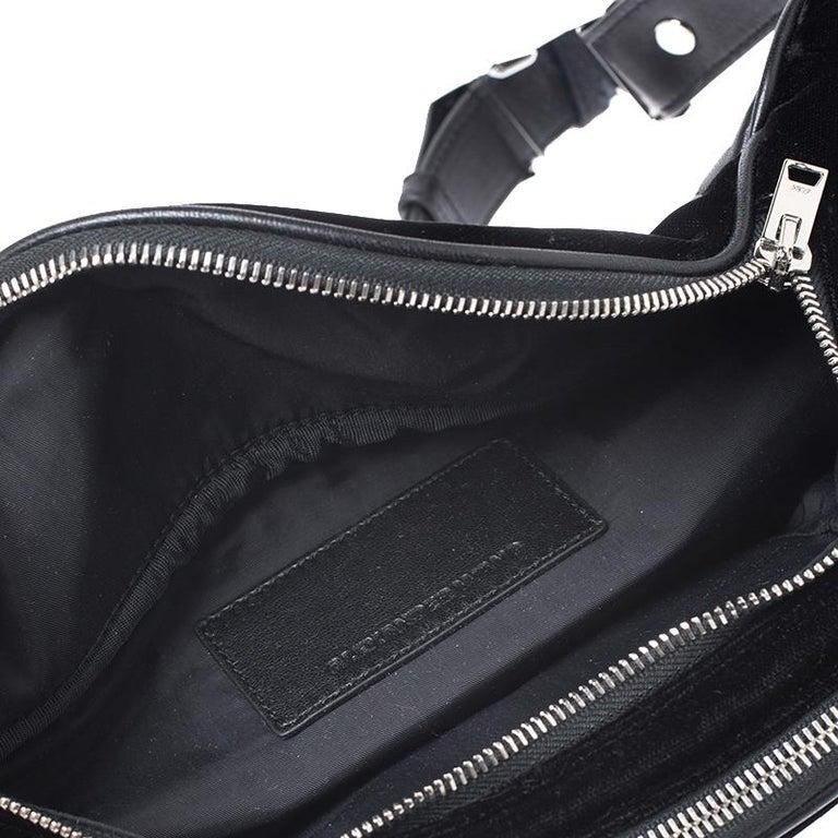Alexander Wang Black Velvet Attica Belt Bag For Sale 8