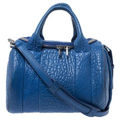 Alexander Wang Blue Leather Small Rockie Satchel