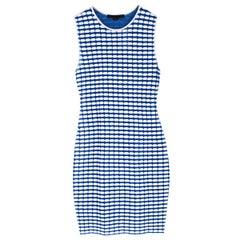 Alexander Wang Blue & White Bodycon Mini Dress S