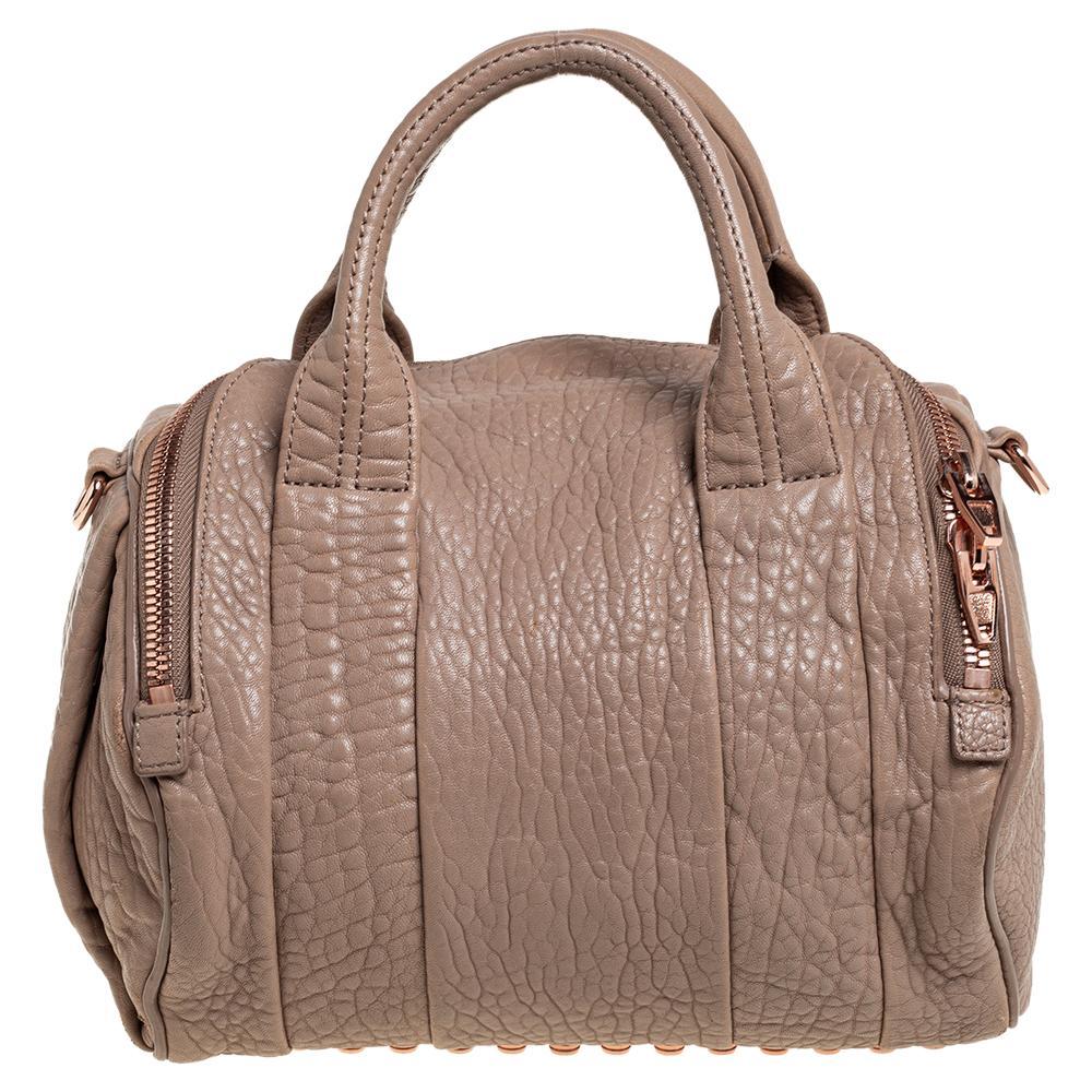 Alexander Wang Brown Leather Rocco Duffel Bag