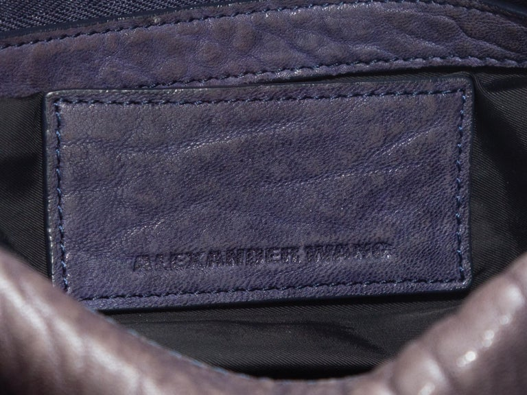 Black Alexander Wang Brown Rocco Leather Duffel Bag For Sale