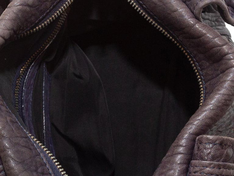 Alexander Wang Brown Rocco Leather Duffel Bag In Good Condition For Sale In New York, NY