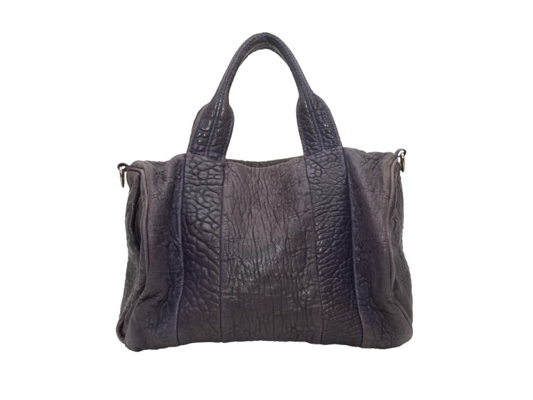 Women's Alexander Wang Brown Rocco Leather Duffel Bag For Sale