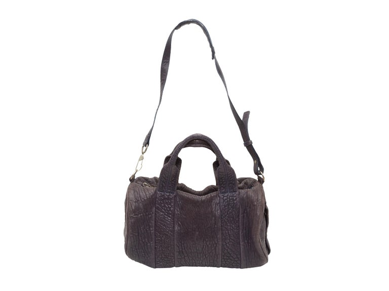 Alexander Wang Brown Rocco Leather Duffel Bag For Sale 1