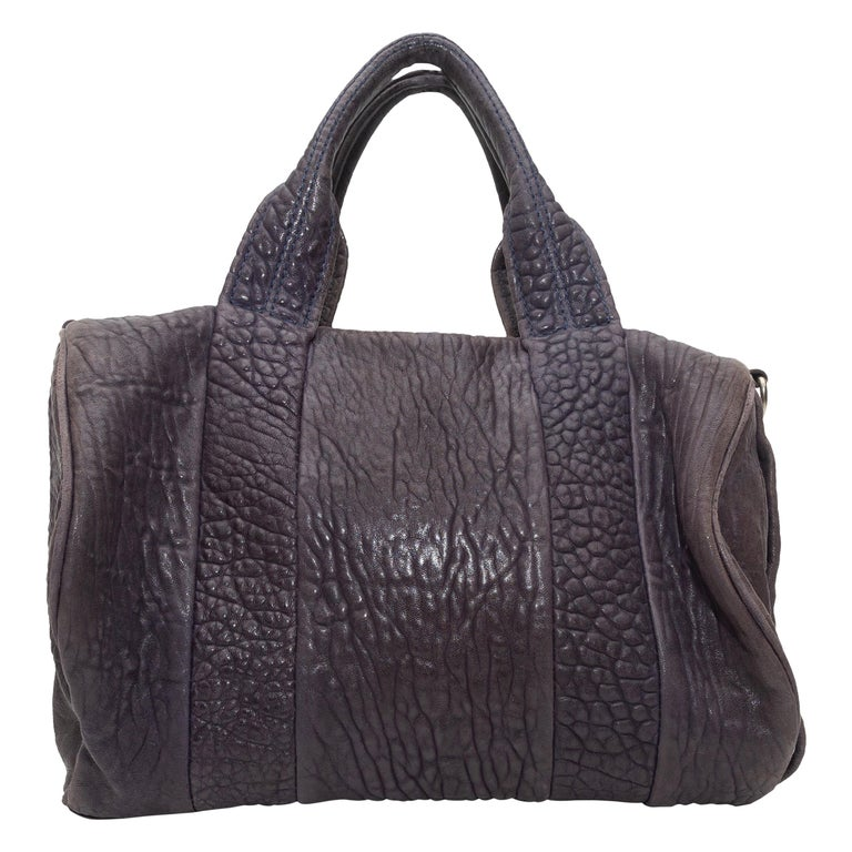 Alexander Wang Brown Rocco Leather Duffel Bag For Sale