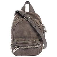 Alexander Wang Grey Leather and Suede Mini Attica Crossbody Bag