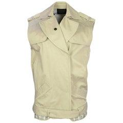 Alexander Wang Khaki Sleeveless Trench Vest w/ Belt sz 4