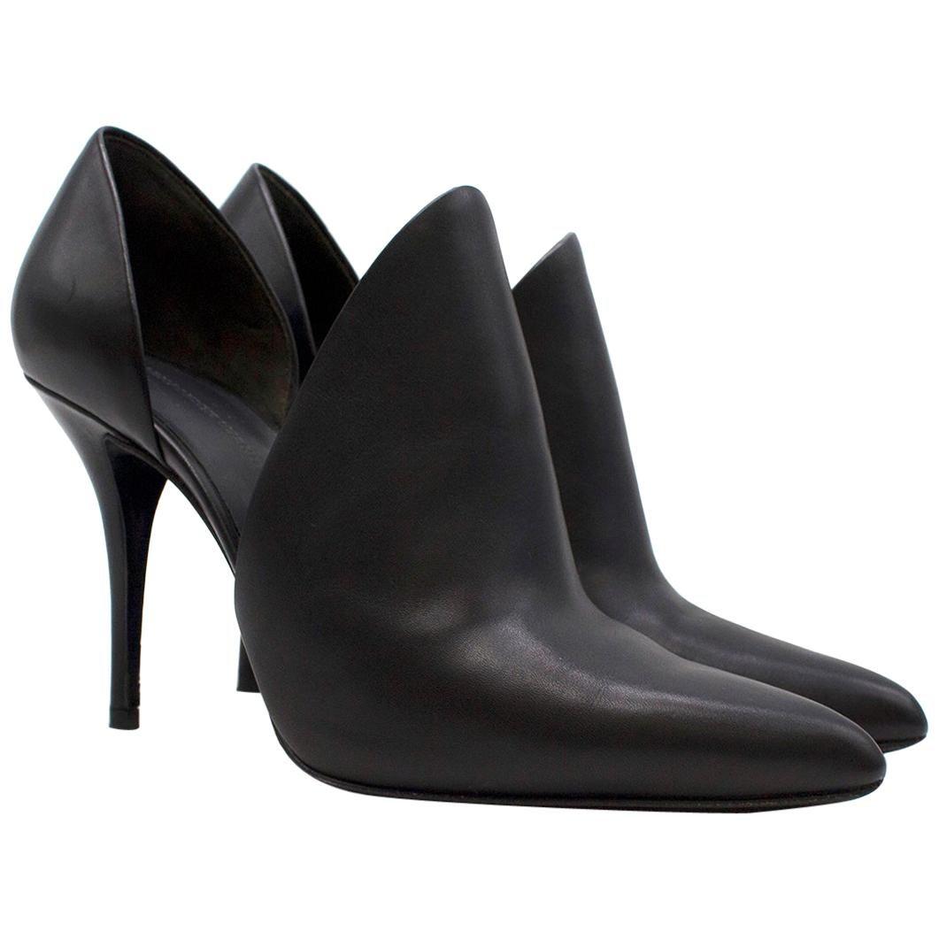 Alexander Wang Leva D'Orsay Leather Pumps in Black SIZE - EU 36