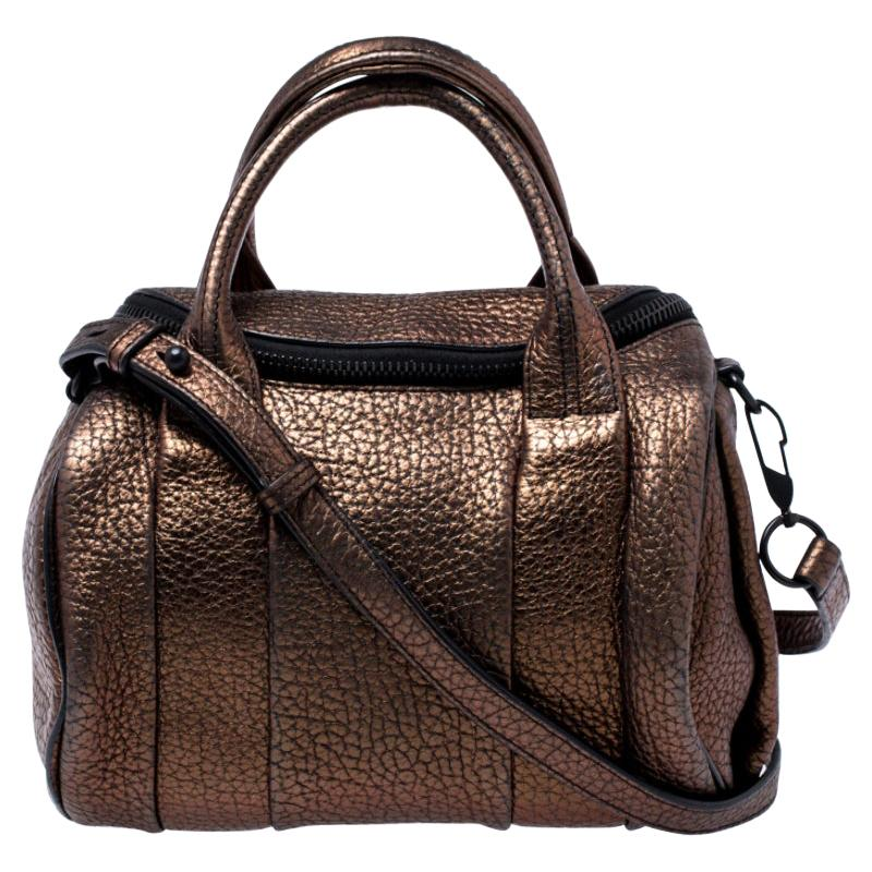 Alexander Wang Metallic Iridescent Textured Leather Rocco Bag