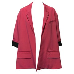 Alexander Wang, Pink Blazer with Cutout Back and Metal Rings, Size 4, NEW!