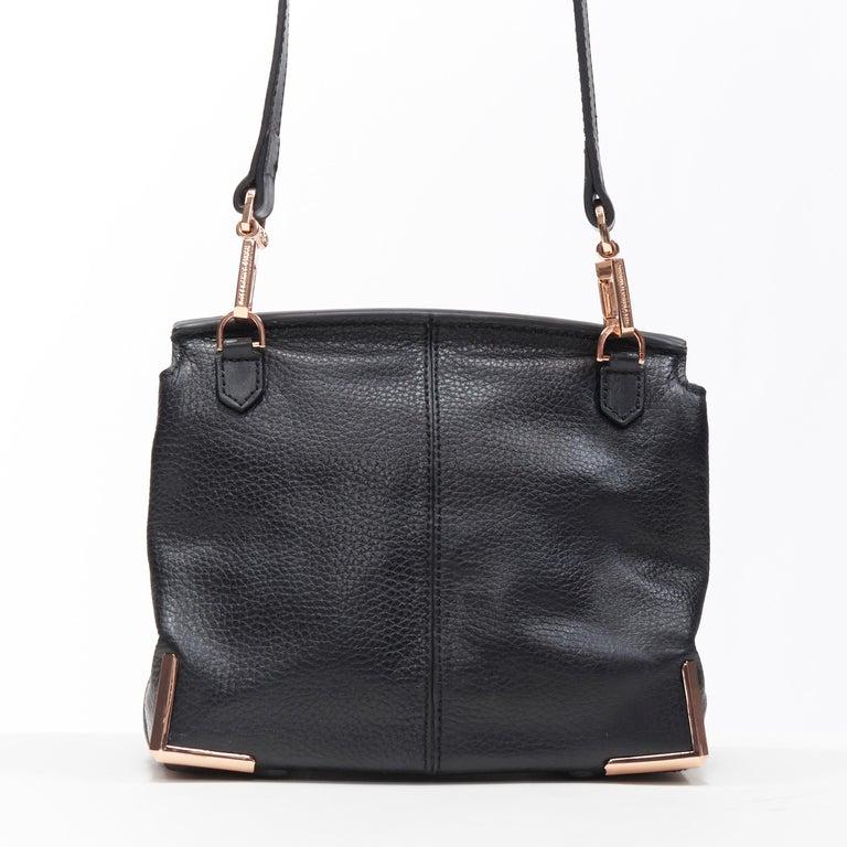 Women's ALEXANDER WANG Prism black leather copper hardware flap shoulder bag For Sale