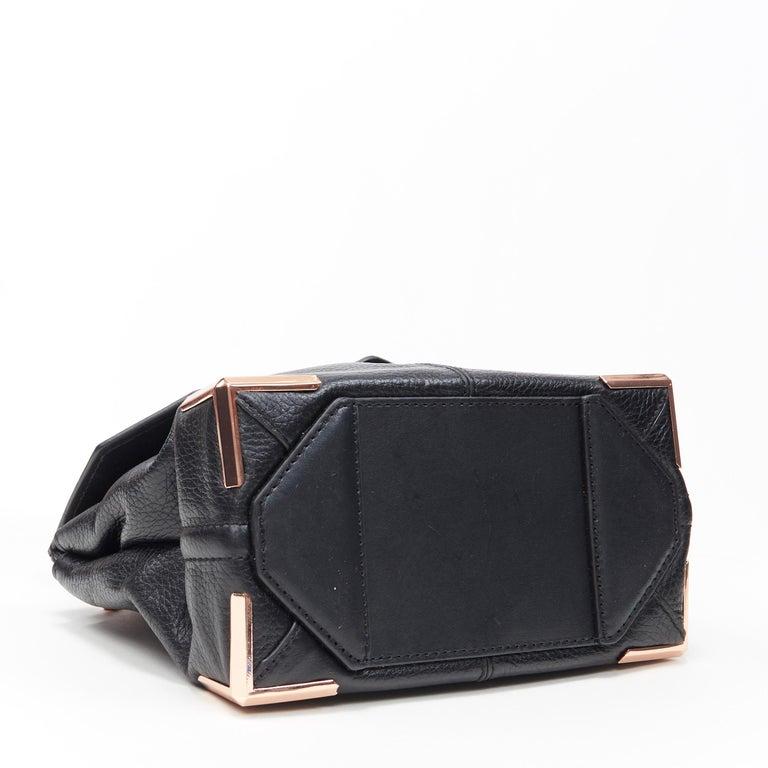 ALEXANDER WANG Prism black leather copper hardware flap shoulder bag For Sale 1