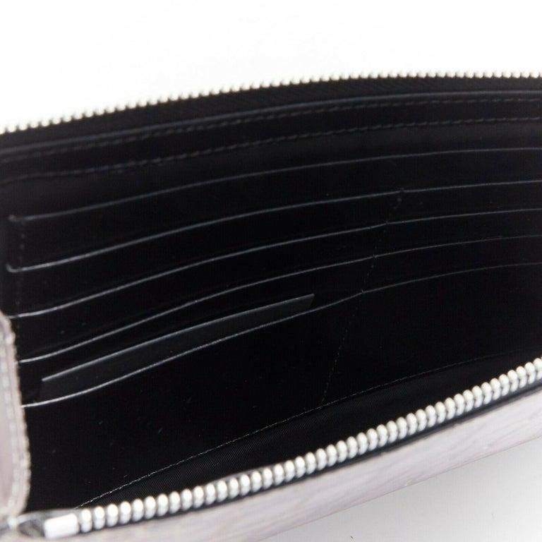 ALEXANDER WANG Prisma clutch leather alligator embossed silver hardware wallet For Sale 3