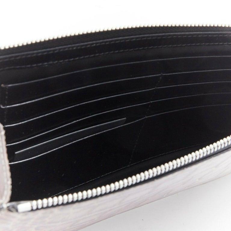 ALEXANDER WANG Prisma clutch leather alligator embossed silver hardware wallet For Sale 4