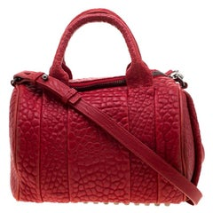 Alexander Wang Red Leather Small Rockie Satchel