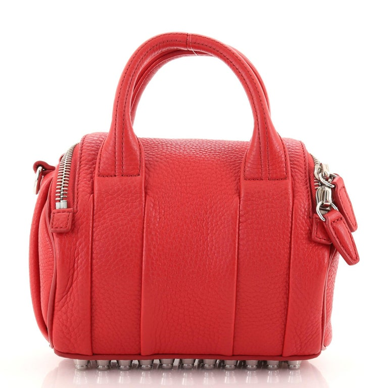 Red Alexander Wang Rockie Satchel Leather Mini For Sale