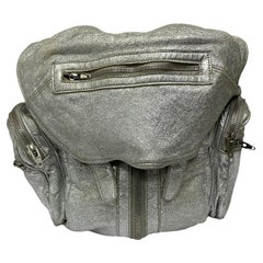 Alexander Wang Silver Leather Backpack