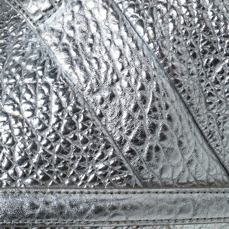 Alexander Wang Silver Pebbled Leather Rocco Duffel Bag 4