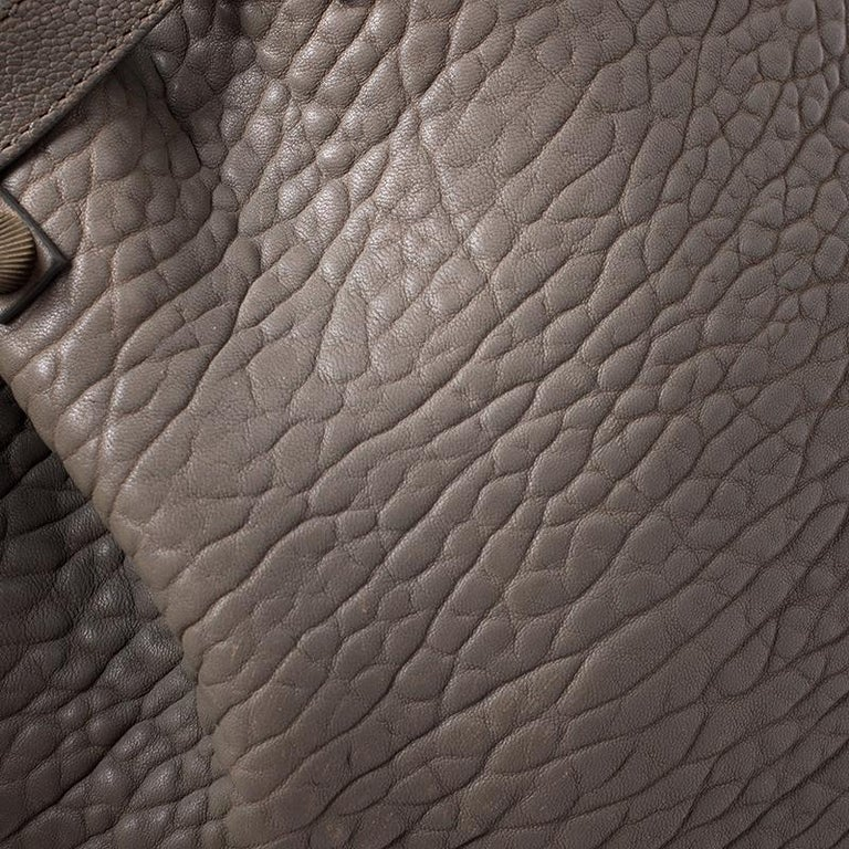 Alexander Wang Taupe Textured Leather Diego Bucket Bag For Sale 3