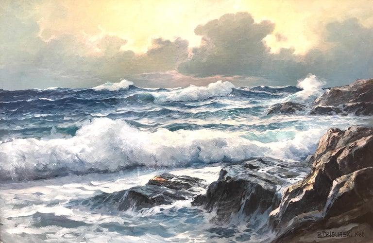"Alexander Dzigurski Landscape Painting - ""California Twilight"""