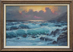 Sun Through the Clouds and the Waves - Big Sur Seascape