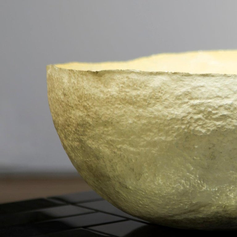 Silver and Gold 'Artesa' Decorative Bowl by Alexandra Agudelo For Sale 2