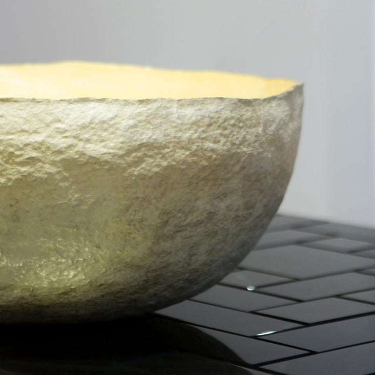 Silver and Gold 'Artesa' Decorative Bowl by Alexandra Agudelo For Sale 3