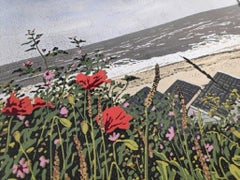 Alexandra Buckle, Seaside Poppies, Limited edition landscape and seascape print
