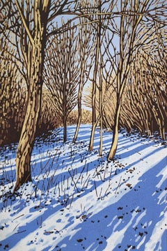Alexandra Buckle, Snow Shadows, Limited edition landscape print