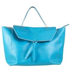 Alexandra DeCurtis Turquoise/Aqua, Leather, Calf Skin Satchel Bag