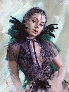 """Enchantress,"" Oil Painting"