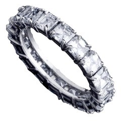 Alexandra Mor Asscher-Cut Diamond Eternity Band