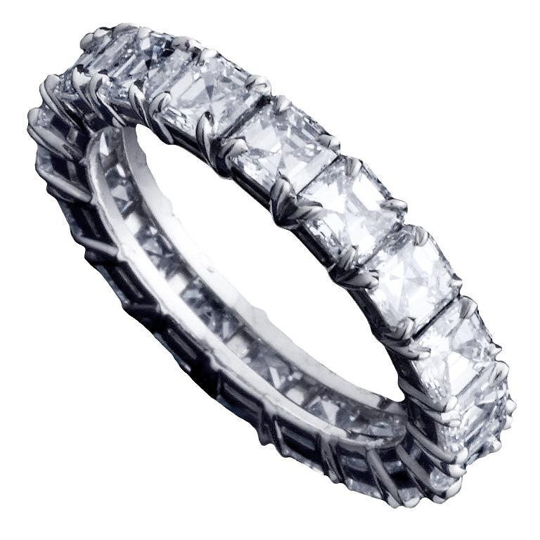 Alexandra Mor Asscher-Cut Diamond Eternity Band For Sale