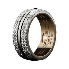 Alexandra Mor Knife-Edged Diamond Eternity Band